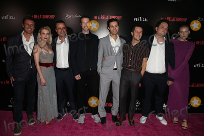 """Dree Hemingway, Emma Roberts, Jorge Garcia, Michael Angarano, Sergio Cortez, Andres Icaza, Sam Boyd, Michael Bublé, Michael Paré Photo - 30 October 2018 - West Hollywood, California - Sam Boyd, Emma Roberts, Dree Hemingway, Michael Angarano, Andres Icaza, Sergio Cortez, Jorge Garcia. """"In a Relationship"""" Los Angeles Premiere held at The London West Hollywood. Photo Credit: Faye Sadou/AdMedia"""