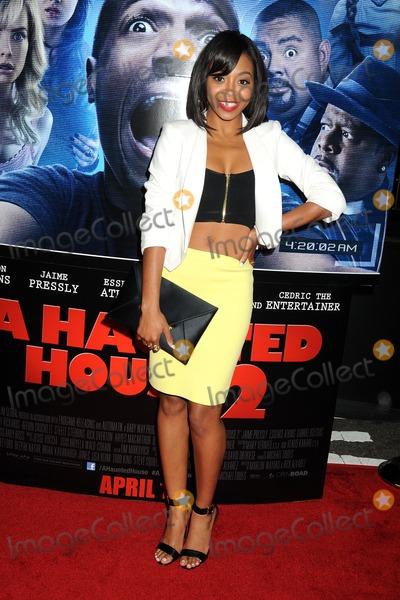 "Bresha Webb Photo - 16 April 2014 - Los Angeles, California - Bresha Webb. ""A Haunted House 2"" Los Angeles Premiere held at Regal Cinemas LA Live. Photo Credit: Byron Purvis/AdMedia"