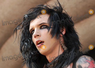 "Photo - 20 July 2011 - Cleveland, OH - Vocalist ANDREW ""ANDY SIX"" BIERSACK of the band BLACK VEIL BRIDES performs on a stop of the Vans Warped Tour 2011 held at the Blossom Music Center.  Photo Credit: Jason L Nelson/AdMedia"