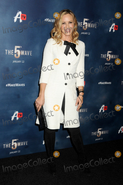 "Maria Bello, Anna Maria Perez de Taglé Photo - 14 January 2016 - Los Angeles, California - Maria Bello. ""The 5th Wave"" Los Angeles Premiere held at Pacific Theatres At The Grove. Photo Credit: Byron Purvis/AdMedia"