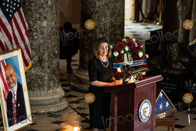 Nancy Pelosi, Representative Nancy Pelosi, The Unit, Alcee Hastings Photo - Speaker of the United States House of Representatives Nancy Pelosi (Democrat of California), speaks at a ceremony celebrating the life of the late former US Representative Alcee Hastings (Democrat of Florida), in Statuary Hall of the Capitol in Washington DC on April 21st, 2021.Credit: Anna Moneymaker / Pool via CNP/AdMedia