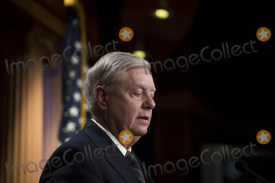 Lindsey Graham, Senator Lindsey Graham Photo - United States Senator Lindsey Graham (Republican of South Carolina) offers remarks and fields questions from reporters during a press conference at the U.S. Capitol in Washington, DC, Thursday, January 7, 2021.