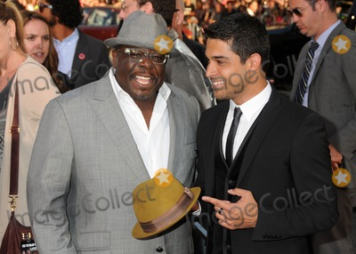 "Cedric ""The Entertainer"", Cedric the Entertainer, Wilmer Valderrama, Grauman's Chinese Theatre Photo - 27 June 2011 - Hollywood, California - Cedric The Entertainer and Wilmer Valderrama. ""Larry Crowne"" Los Angeles Premiere held at Grauman's Chinese Theatre. Photo Credit: Byron Purvis/AdMedia"