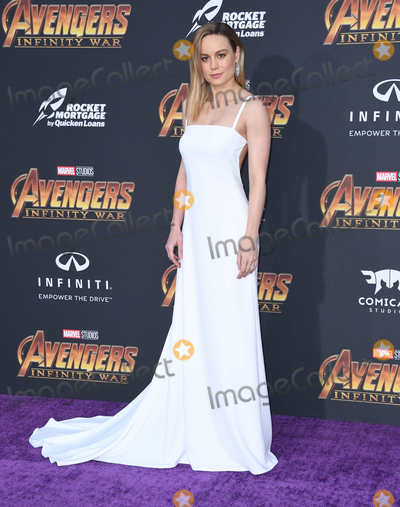 "Brie Larson Photo - 23 April 2018 -  Hollywood, California - Brie Larson. Disney and Marvel's ""Avengers: Infinity War"" Los Angeles Premiere held at Dolby Theater. Photo Credit: Birdie Thompson/AdMedia"