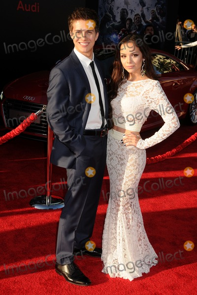 """Billy Unger, Angela Moreno Photo - 13 April 2015 - Hollywood, California - Billy Unger, Angela Moreno. """"Avengers: Age Of Ultron"""" Los Angeles Premiere held at The Dolby Theatre. Photo Credit: Byron Purvis/AdMedia"""