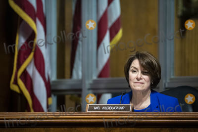 Amy Klobuchar Photo - United States Senator Amy Klobuchar (Democrat of Minnesota), listens during a US Senate Judiciary Subcommittee hearing in Washington, D.C., U.S., on Tuesday, April 27, 2021. The hearing is examining the effect social media companies' algorithms and design choices have on users and discourse. Credit: Al Drago / Pool via CNP/AdMedia