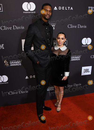 Photo - 09 February 2019 - Beverly Hills, California - Chris Bosh, Adrienne Bosh. The Recording Academy And Clive Davis' 2019 Pre-GRAMMY Gala held at the Beverly Hilton Hotel. Photo Credit: Birdie Thompson/AdMedia