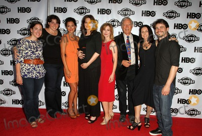 """Emily Deschanel, Jason Ritter, Richard Chamberlain, Sharon Lawrence, Anne Renton, Angelique Cabral, Angelique  Cabral Photo - 17 July 2011 - West Hollywood, California - Angelique Cabral, Emily Deschanel, Sharon Lawrence, Richard Chamberlain, Anne Renton, Jason Ritter with Guests. 2011 Outfest Film Festival Screening Of """"The Perfect Family"""" Closing Night- Arrivals  Held At The DGA Theatre. Photo Credit: Kevan Brooks/AdMedia"""