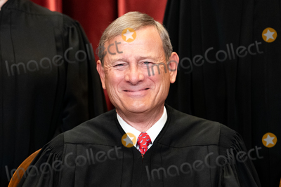 Supremes, The Supremes, The Unit, Group Photo, Supreme Court Photo - Chief Justice of the United States John G. Roberts, Jr. sits during a group photo of the Justices at the Supreme Court in Washington, DC on April 23, 2021.  Credit: Erin Schaff / Pool via CNP/AdMedia