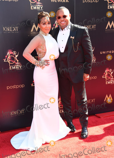 Adrienne Bailon, Israel Houghton, Adrienne Houghton Photo - 03 May 2019 - Pasadena, California - Adrienne Bailon, Adrienne Houghton, Israel Houghton. 46th Annual Daytime Creative Arts Emmy Awards - Arrivals held at Pasadena Civic Center. Photo Credit: Birdie Thompson/AdMedia