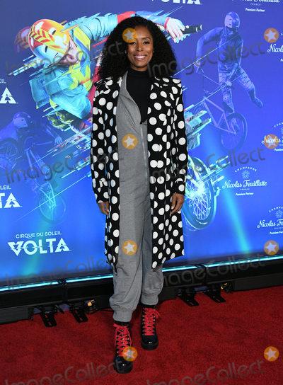 "Tasha Smith, Cirque du Soleil Photo - 21 January 2020 - Los Angeles, California - Tasha Smith. Cirque Du Soleil's ""Volta"" Los Angeles Premiere held at Dodger Stadium. Photo Credit: Birdie Thompson/AdMedia"