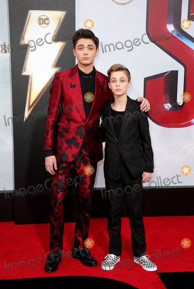 "TCL Chinese Theatre, Asher Angel, Avi Angel Photo - 28 March 2019 - Hollywood, California - Asher Angel, Avi Angel. Warner Bros. Pictures and New Line Cinema World Premiere of ""SHAZAM!"" held at TCL Chinese Theatre. Photo Credit: Faye Sadou/AdMedia"
