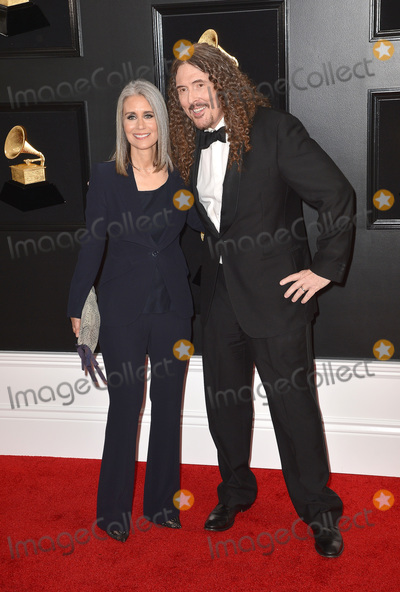 "Photo - 10 February 2019 - Los Angeles, California - Suzanne Yankovic, ""Weird Al"" Yankovic. 61st Annual GRAMMY Awards held at Staples Center. Photo Credit: AdMedia"