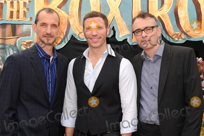 "Travis Knight, Anthony Stacchi, Graham Annable Photo - 21 September 2014 - Universal City, California - Anthony Stacchi, Travis Knight, Graham Annable. ""The Boxtrolls"" Los Angeles Premiere held at Universal CityWalk. Photo Credit: Byron Purvis/AdMedia"