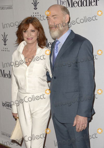 """J K Simmons, J. K. Simmons, J.K. Simmons, Susan Sarandon, JK Simmons, J.K Simmons Photo - 13 April 2016 - Los Angeles, California - Susan Sarandon, J.K. Simmons. """"The Meddler"""" Loa Angeles Premiere held at the Pacific Theaters. Photo Credit: Koi Sojer/AdMedia"""