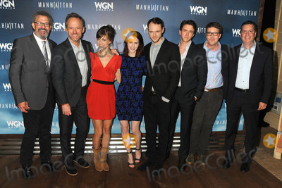 "John Benjamin Hickey, Thomas Schlamme, Rachel Brosnahan, Sam Shaw, Ashley Zukerman, Katja Herbers, Christopher Denham Photo - 29 July 2015 - Beverly Hills, California - Thomas Schlamme, John Benjamin Hickey, Katja Herbers, Rachel Brosnahan, Christopher Denham, Ashley Zukerman, Sam Shaw. ""Manhattan"" Summer TCA Panel held at the Beverly Hilton Hotel. Photo Credit: Byron Purvis/AdMedia"