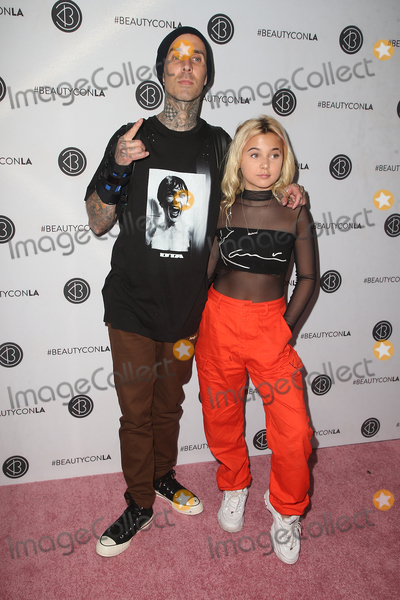 Alabama, Travis Barker Photo - 14 July 2018- Los Angeles, California - Travis Barker, Alabama Luella Barker. 5th Annual Beautycon Festival LA 2018 held at the Los Angeles Convention Center. Photo Credit: Faye Sadou/AdMedia