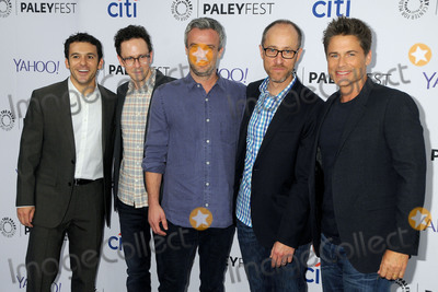 "Fred Savage, Paul Andrew, Rob Lowe, Jarrad Paul, Andrew Mogel, Ben Wexler Photo - 15 September 2015 - Beverly Hills, California - Fred Savage, Jarrad Paul, Andrew Mogel, Ben Wexler, Rob Lowe. 2015 PaleyFest Fall TV Preview - ""The Grinder"" held at The Paley Center. Photo Credit: Byron Purvis/AdMedia"
