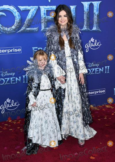 "Gomez, Selena Gomez Photo - 07 November 2019 - Hollywood, California - Gracie Teefey, Selena Gomez. Disney's ""Frozen 2"" Los Angeles Premiere held at Dolby Theatre. Photo Credit: Birdie Thompson/AdMedia"