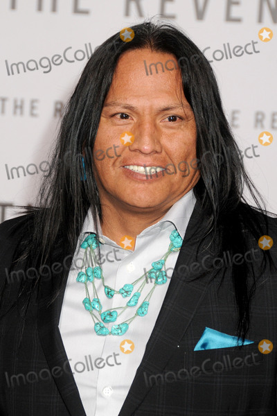 "Arthur Redcloud, TCL Chinese Theatre Photo - 16 December 2015 - Hollywood, California - Arthur Redcloud. ""The Revenant"" Los Angeles Premiere held at the TCL Chinese Theatre. Photo Credit: Byron Purvis/AdMedia"