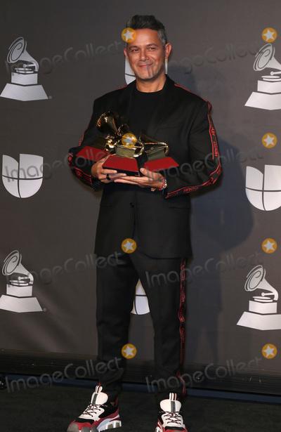 Alejandro Sanz, Grammy Awards Photo - 14 November 2019 - Las Vegas, NV - Alejandro Sanz. 2019 Latin Grammy Awards Press Room at MGM Grand Garden Arena. Photo Credit: MJT/AdMedia