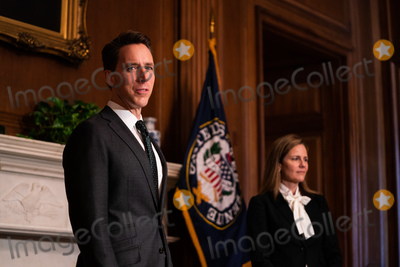 Supremes, The Used, Josh Hawley, Supreme Court Photo - Seventh United States Circuit Court Judge Amy Coney Barrett, US President Donald J. Trump's nominee for the US Supreme Court meets with United States Senator Josh Hawley (Republican of Missouri) in the Mansfield Room at the U.S. Capitol October 1, 2020 in Washington, DC. Barrett is meeting with senators ahead of her confirmation hearing which is scheduled to begin on October 12, less than a month before Election Day. 