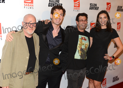 """Andy Ross, Dino Meneghin, TLC Photo - 14 October 2017 - Hollywood, California - ANDY ROSS, DINO MENEGHIN, CHARLES, BARSAIAN AND MEGHAN KOZLOSKY. """"Killing Gunther"""" Los Angeles Premiere held at TLC Chinese Theater. Photo Credit: Billy Bennight/AdMedia"""
