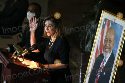 Nancy Pelosi, Representative Nancy Pelosi, The Unit, Alcee Hastings Photo - Speaker of the United States House of Representatives Nancy Pelosi (Democrat of California), delivers remarks at ceremony honoring the late US Representative Alcee Hastings (Democrat of Florida), in Statuary Hall at the U.S. Capitol in Washington, DC on Wednesday, April 21, 2021. Rep. Hastings, the longest-serving member of the Florida congressional delegation, died at the age of 84 after a battle with pancreatic cancer. Credit: Tasos Katopodis / Pool via CNP/AdMedia