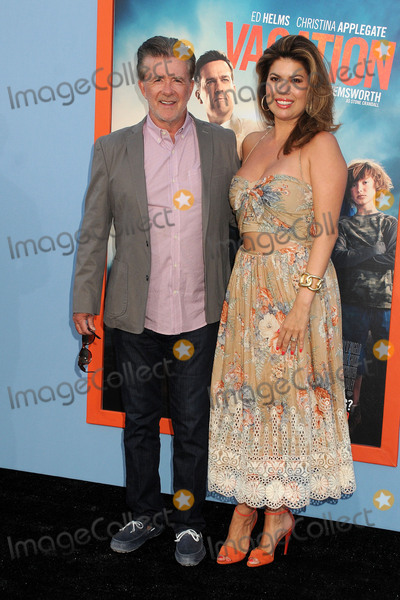 "Alan Thicke, Tanya Callau Photo - 27 July 2015 - Westwood, California - Alan Thicke, Tanya Callau. ""Vacation"" Los Angeles Premiere held at the Regency Village Theatre. Photo Credit: Byron Purvis/AdMedia"