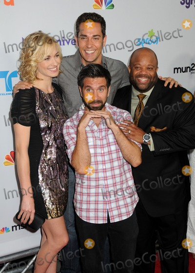 Christopher Lawrence, Gomez, Joshua Gomez, Mark Christopher, Yvonne Strahovski, Zachary Levi, Mark CHRISTOPHE Lawrence, Christophe Honoré, Teairra Marí Photo - 1 August 2011 - Los Angeles, California - Yvonne Strahovski, Zachary Levi, Joshua Gomez and Mark Christopher Lawrence. NBC Universal TCA 2011 Press Tour All-Star Party held at the SLS Hotel. Photo Credit: Byron Purvis/AdMedia