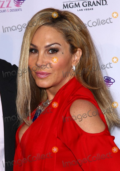 Adrienne Maloof Photo - 14 January 2012 - Las Vegas, Nevada - Adrienne Maloof.  The Real Housewives of Beverly Hills walk the red carpet in celebration of the grand opening of the newest Blizz Frozen Yogurt at the MGM Grand  Resort Hotel and Casino.  Photo Credit: MJT/AdMedia