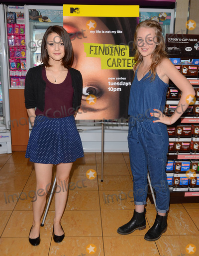 "Anna Jacoby-Heron, Kathryn Prescott Photo - 12 August 2014 - Burbank, California - Kathryn Prescott, Anna Jacoby- Heron. Cast of MTV's ""Finding Carter"" celebrate the twins' 17th birthday at Baskin-Robbins in Burbank, Ca. Photo Credit: Birdie Thompson/AdMedia"