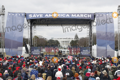 Joe Biden, The Stage Photo - The stage before US President Donald J. Trump delivers remarks to supporters gathered to protest Congress' upcoming certification of Joe Biden as the next president on the Ellipse in Washington, DC, USA, 06 January 2021. Various groups of Trump supporters are gathering to protest as Congress prepares to meet and certify the results of the 2020 US Presidential election.Credit: Shawn Thew / Pool via CNP/AdMedia