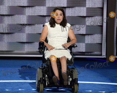 Anastasia Somoza, Anastasia Photo - Anastasia Somoza of New York, NY, along with her twin sister, was diagnosed with cerebral palsy and spastic quadriplegia when she was born and is an advocate for Americans with intellectual and developmental disabilities makes remarks at the 2016 Democratic National Convention at the Wells Fargo Center in Philadelphia, Pennsylvania on Monday, July 25, 2016. Photo Credit: Ron Sachs/CNP/AdMedia