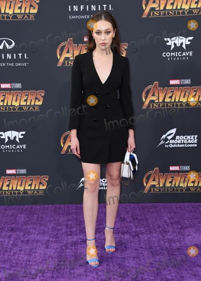 "Alycia Debnam-Carey Photo - 23 April 2018 -  Hollywood, California - Alycia Debnam Carey. Disney and Marvel's ""Avengers: Infinity War"" Los Angeles Premiere held at Dolby Theater. Photo Credit: Birdie Thompson/AdMedia"
