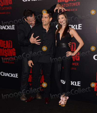 "Jesse Metcalfe, Kim Novak, Jesse Metcalf, Aleks Paunovic, Meghan Ory Photo - 11 March 2015 - Los Angeles, California - Aleks Paunovic, Jesse Metcalfe, Meghan Ory.  Arrivals for Crackle's world premiere original feature film ""Dead Rising: Watchtower"" held at the Kim Novak Theater at Sony Pictures Studios. Photo Credit: Birdie Thompson/AdMedia"
