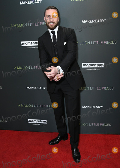"""Aaron Taylor-Johnson, Taylor Johnson Photo - 04 December 2019 - West Hollywood, California - Aaron Taylor-Johnson. Special Screening Of Momentum Pictures' """"A Million Little Pieces"""" held at The London West Hollywood. Photo Credit: Birdie Thompson/AdMedia"""