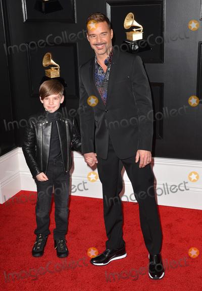 Ricky Martin, Grammy Awards, Matteo Martin Photo - 10 February 2019 - Los Angeles, California - Matteo Martin, Ricky Martin. 61st Annual GRAMMY Awards held at Staples Center. Photo Credit: AdMedia