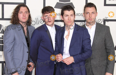 Alex Turner, Arctic Monkeys, Jamie Cook, Matt Helders, Nick O'Malley, Grammy Awards, Jamie Salé Photo - 08 February 2015 - Los Angeles, California - Nick O'Malley, Jamie Cook, Alex Turner, and Matt Helders, Arctic Monkeys.57th Annual GRAMMY Awards held at the Staples Center. Photo Credit: AdMedia
