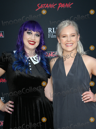 "Chelsea Stardust, Amanda Presmyk Photo - 23 August 2019 - Hollywood, California - Chelsea Stardust, Amanda Presmyk. Premiere Of ""Satanic Panic"" held at The Egyptian Theatre. Photo Credit: FSadou/AdMedia"