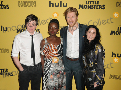 """Abe Forsythe, Lupita Nyong'o, Lupita  Nyong'o, Alexander England Photo - 08 October 2019 - New York, New York - Abe Forsythe, Lupita Nyong'o, Alexander England and Jodi Matterson. """"Little Monsters"""" New York Premiere held at AMC Lincoln Square Theater. Photo Credit: AdMedia"""