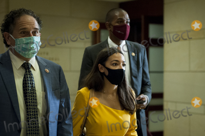 The Used, Alexandria Ocasio-Cortez Photo - United States Representative Alexandria Ocasio-Cortez (Democrat of New York), makes her way to a classified briefing on election security for members of Congress at the US Capitol in Washington, DC., Friday, July 31, 2020. Credit: Rod Lamkey / CNP/AdMedia