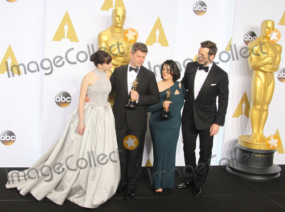Chris Pratt, Felicity Jones, Adam Stockhausen, Anna Pinnock, Anna Maria Perez de Taglé Photo - 22 February 2015 - Hollywood, California - Felicity Jones, Adam Stockhausen, Anna Pinnock, Chris Pratt. 87th Annual Academy Awards presented by the Academy of Motion Picture Arts and Sciences held at the Dolby Theatre. Photo Credit: F. Sadou/AdMedia