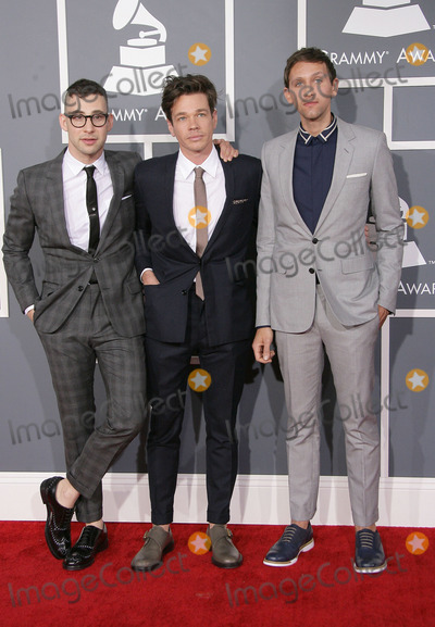 Jack Antonoff, Andrew Dost, Nate Ruess, Grammy Awards Photo - 10 February 2013 - Los Angeles, California - Jack Antonoff, Nate Ruess, Andrew Dost, Fun. The 55th Annual GRAMMY Awards held at STAPLES Center. Photo Credit: AdMedia