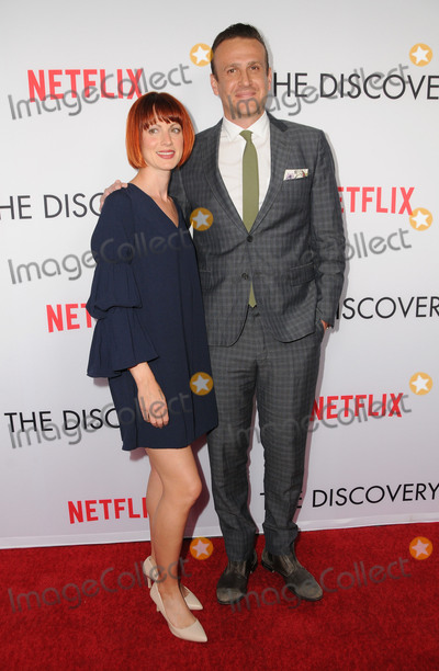 """Jason Segel, JASON SEGELL, Alexis Mixter Photo - 29 March 2017 - Los Angeles, California - Alexis Mixter, Jason Segel.  Premiere Of Netflix's """"The Discovery"""" held at The Vista Theater in Los Angeles. Photo Credit: Birdie Thompson/AdMedia"""