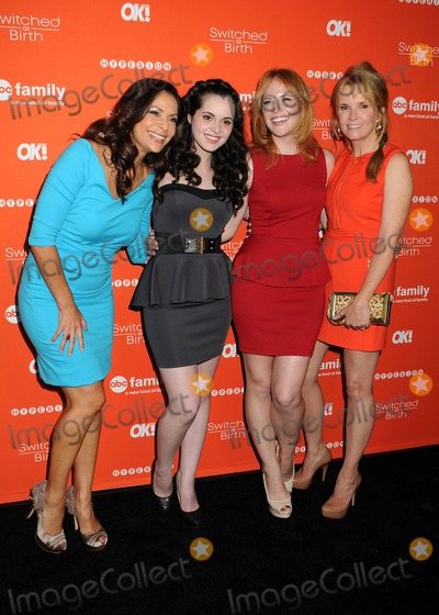 "Constance Zimmer, Lea Thompson, Vanessa Marano, Katie Leclerc, Katie Leclerc_, Léna Jam-Panoï, Vanessa Larré Photo - 13 September 2012 - Hollywood, California - Constance Zimmer, Vanessa Marano, Katie Leclerc, Lea Thompson. ABC Family's ""Switched at Birth"" Fall Premiere held at The Redbury Hotel. Photo Credit: Byron Purvis/AdMedia"
