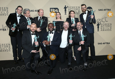 Clea Du VALL, Gary Cole, Matt Walsh, Nelson Franklin, Tony Hale, Timothy Simons, Dan Bakkedahl, Sam Richardson, Sarah Sutherland Photo - 21 January 2018 - Los Angeles, California - Nelson Franklin, Gary Cole, Dan Bakkedahl, Sarah Sutherland, Clea DuVall, Timothy Simons, Paul Schee, Sam Richardson, Matt Walsh and Tony Hale of 'Veep'. 24th Annual Screen Actors Guild Awards held at The Shrine Auditorium. Photo Credit: Retna/AdMedia