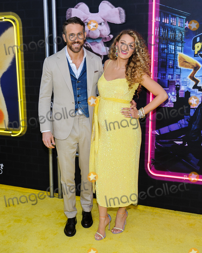 Blake Lively, Ryan Reynolds, King Sunny Adé Photo - 02 May 2019 - New York, New York - Blake Lively, Ryan Reynolds. Pokemon Detective Pikachu US Premiere Photo Credit: Mario Santoro/AdMedia