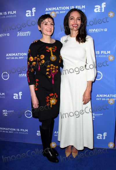 Angelina Jolie, ANGELINA JOLIE,, Nora Twomey Photo - 20 October 2017 - Hollywood, California - Nora Twomey and Angelina Jolie. The Breadwinner U.S. Premiere held at the TCL Chinese 6 Theatre in Hollywood. Photo Credit: AdMedia