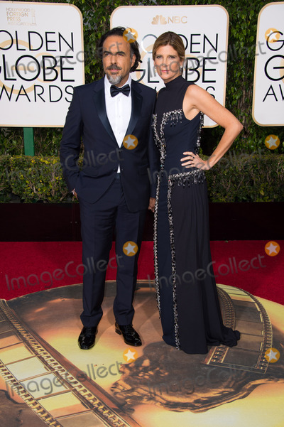 """Alejandro Inarritu Photo - Alejandro Inarritu, Golden Globe Nominee in the category of BEST MOTION PICTURE - MUSICAL OR COMEDY for the movie """"The Revenant"""", and guest, arrives at the 73rd Annual Golden Globe Awards at the Beverly Hilton in Beverly Hills, CA on Sunday, January 10, 2016. Photo Credit: HFPA/AdMedia"""